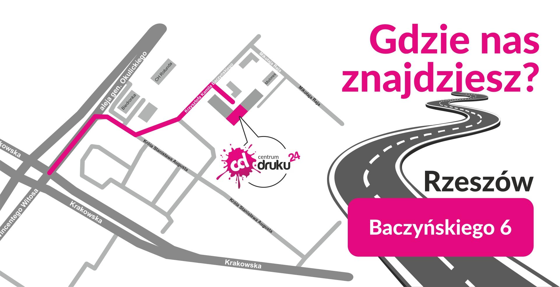 mapa centrumdruku24 rzeszów